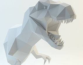 head t-rex dinosaur 3D model