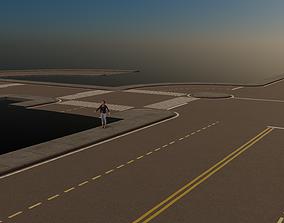 Modular Town Road Set 3D asset