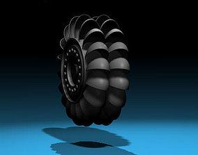 Hydroelectric turbine 3D model