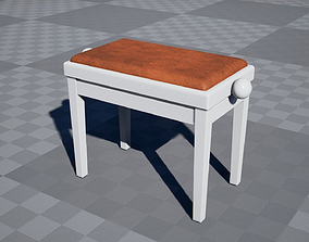 Piano Bench 1 3D asset
