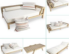 3D Synthesis Wooden Outdoor Furniture Unopiu