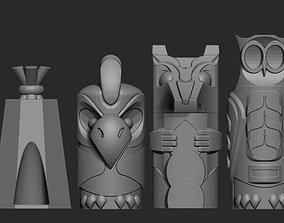 Totem Chess Set 3D print model