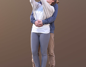 3D asset Marcel and Rocio 10582 - Selfie Casual Couple