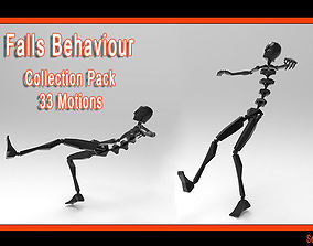 3D model Falls Behaviour Collection Pack