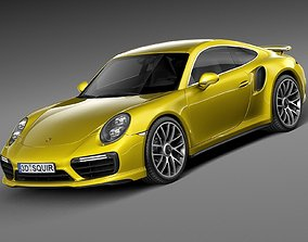3D Porsche 911 Turbo S Coupe 2016