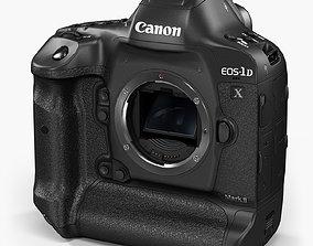 Canon EOS-1D X Mark II DSLR camera 3D asset
