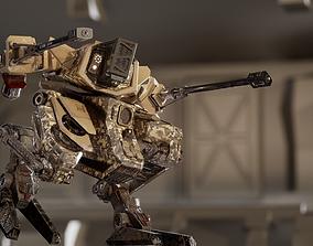 Battle Mech Rigged PBR Game Ready 3D model