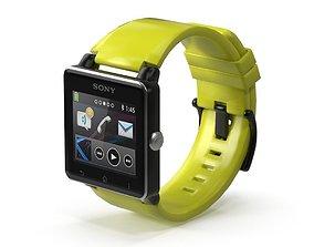 Sony Watch 2 Yellow 3D model