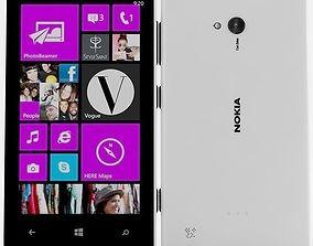 Nokia lumia 720 White 3D model 3g