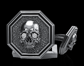 skullring skull cufflinks 3D printable model