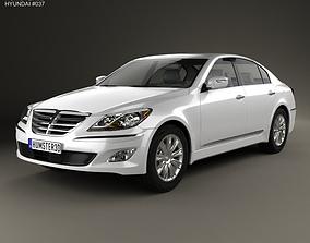 3D Hyundai Genesis Rohens sedan 2012
