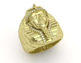3D printable model tutankhamun ring