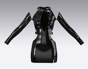 3D PLASTIC BLACK DRESS MINI