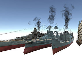 3D model Old Ship Set