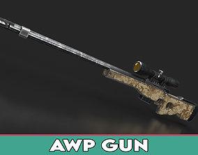 AWP Rifle 3D model
