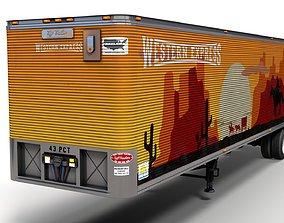 Dry van semi trailer 3D model