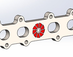 2JZ engine exhaust flange 3D model