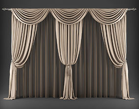low-poly Curtain 3D model 322
