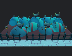 3D model Halloween Graveyard