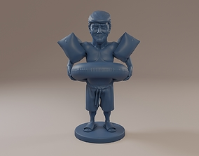 Donald Trump Swimmingpool 3D print model