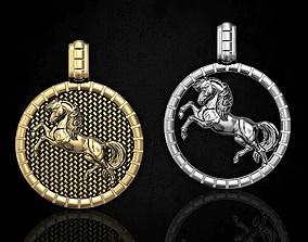 Pretty horse pendant 3D print model
