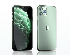 3D model iPhone 11 pro max midnight green