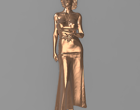 Beautiful woman Bas relief for CNC 3D print model