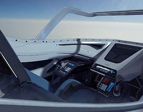 Scifi Futuristic Fighter Cockpit 3D model