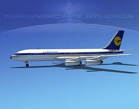 Boeing 707 Lufthansa 3D model