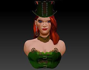 steam punk woman 3D