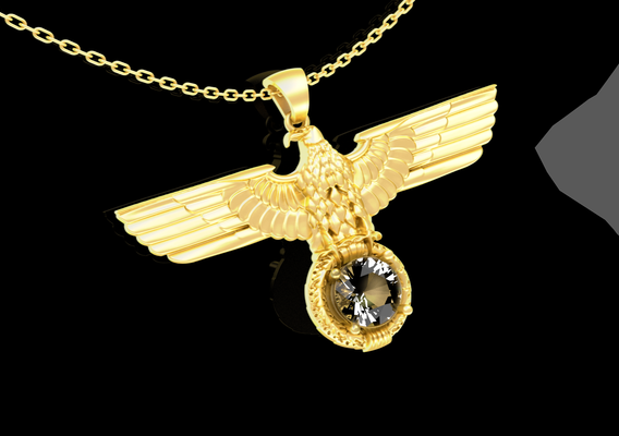 Eagle Specialized pendant jewelry Gold 3D print model