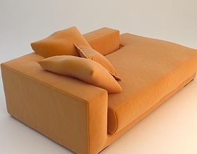 Orange Sofa Daybed 3D model