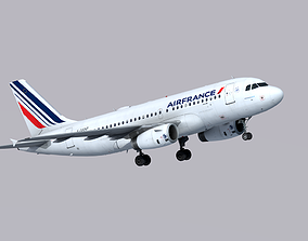 3D asset Airbus A319 Air France