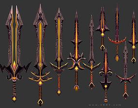3DRT - fantasy arms Swords realtime