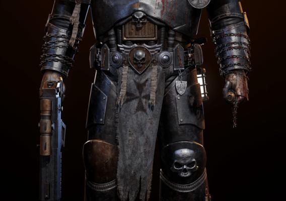 Black Templar Chaplain Space Marine