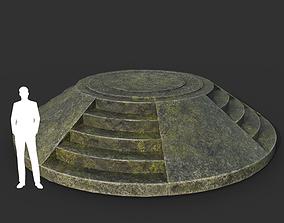 Low poly Ancient Dragon Temple Element 04 190909 3D asset