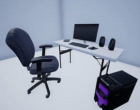 3D model Computer Set Up