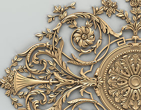 3D Carved decor central 017