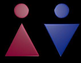 3D Symbols of gender 4