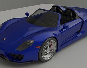 3D sport Porsche 918 spyder