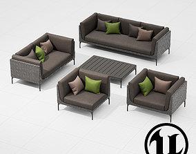3D model Dedon Mu Set UE4