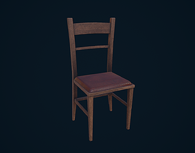 unreal Chair 3D model low-poly