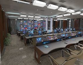 TV Studio Control Room 1 3D