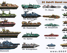 3D model Sci-Fi Naval collection
