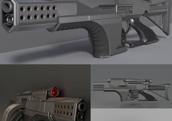 A futuristic weapon concept