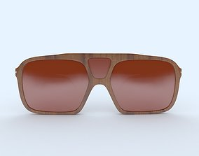 3D printable model Sunglasses Wooden Brown Frame