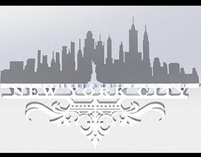 3D print model New York City Shadow