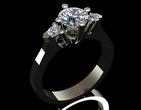 3D print model Luxury Engagement Diamond Ring