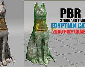3D model Egyptian cat god