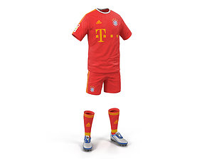 3D model Soccer Clothes Bayern